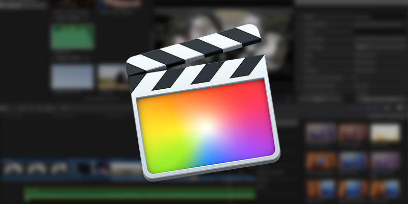 Final Cut Pro Logo and Background