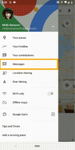 news-google-maps-messages-menu