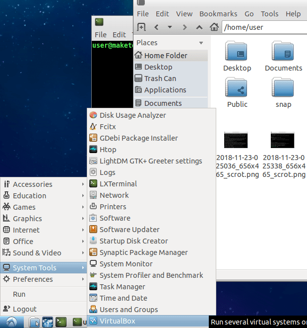 virtualbox-ubuntu-lxde-application-launcher
