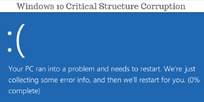 How to Troubleshoot Critical Structure Corruption in Windows