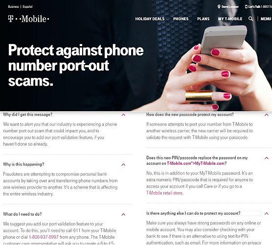 T-Mobile Phone Number Portout Advisory