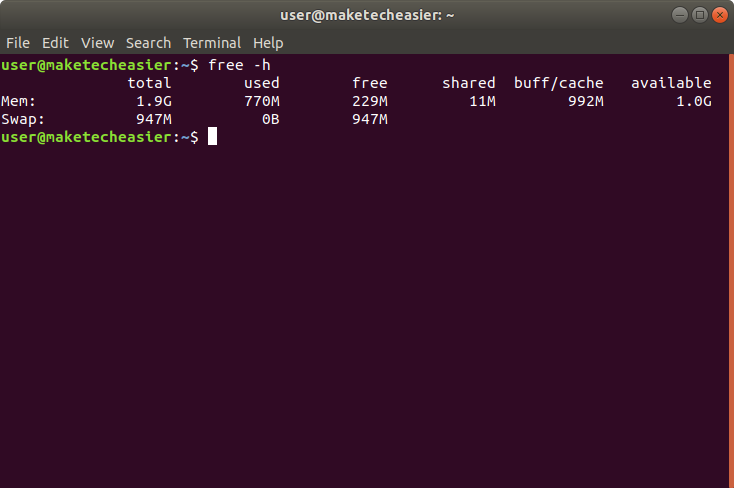 ubuntu-memory-free