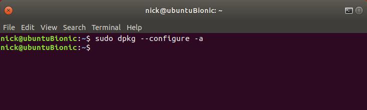 Ubuntu DPKG Reconfigure