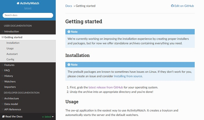Activity Watch Linux Installation Guidelines