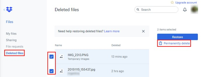 dropbox download multiple files