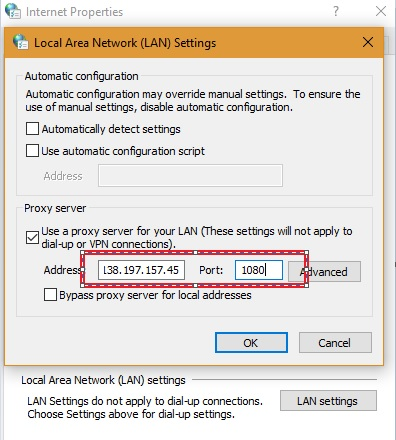 Fresh proxy server in LAN