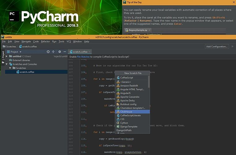 PyCharm IDE Screenshots
