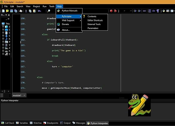 PyScripter screenshots