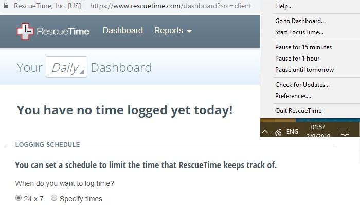 Rescue Time Screenshots