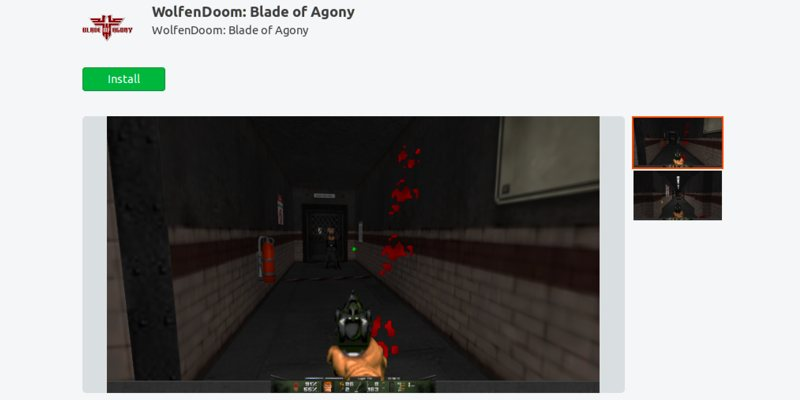 best-games-ubuntu-snap-store-wolfendoom-blade-of-agony