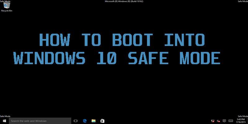 Remove password windows 10 safe mode