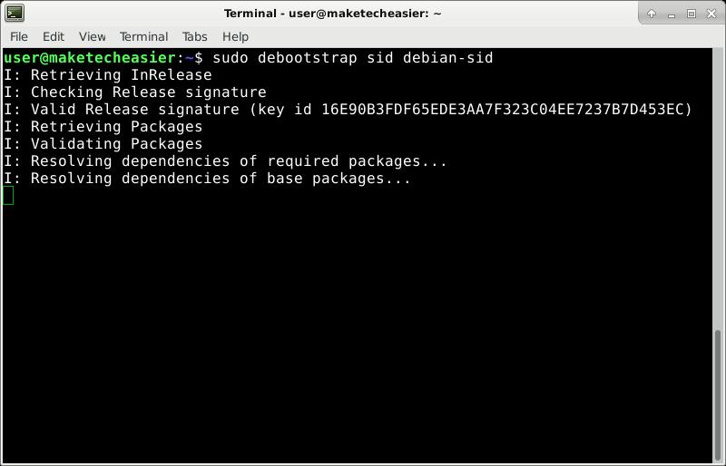 debootstrap-install-sid