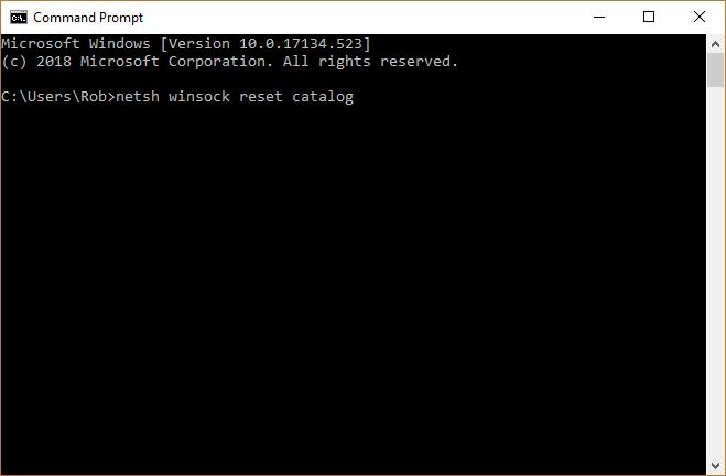 fix-no-internet-secured-message-windows-reset-winsock