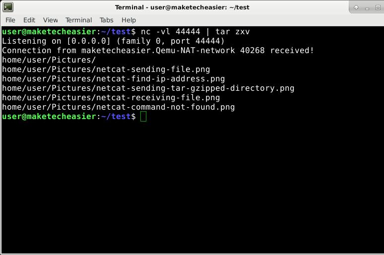 netcat-receiving-tar-gzipped-directory