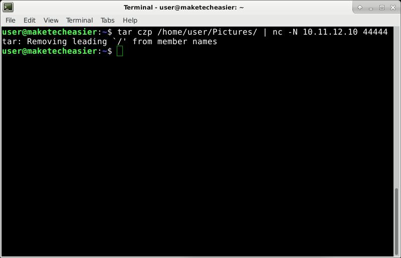 netcat-sending-tar-gzipped-directory