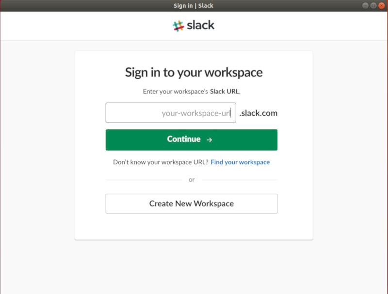 Slack Workspace URL
