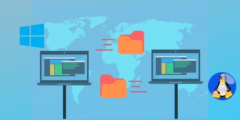 Как передавать файлы между Linux и Windows через локальную сеть