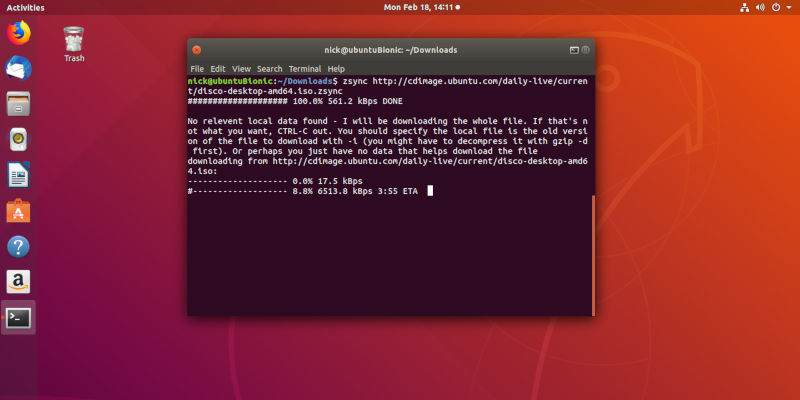 Download Files With Zsync Linux