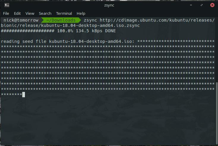Zsync Updating Kubuntu