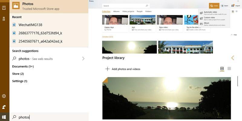 Microsoft Photos Video Editing Mode Featured