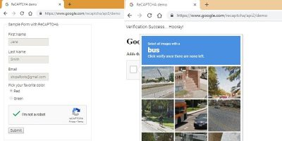 Google ReCAPTCHA solved