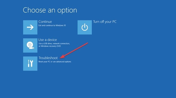 fix-bad-system-config-info-windows-10-choose-an-option-troubleshoot