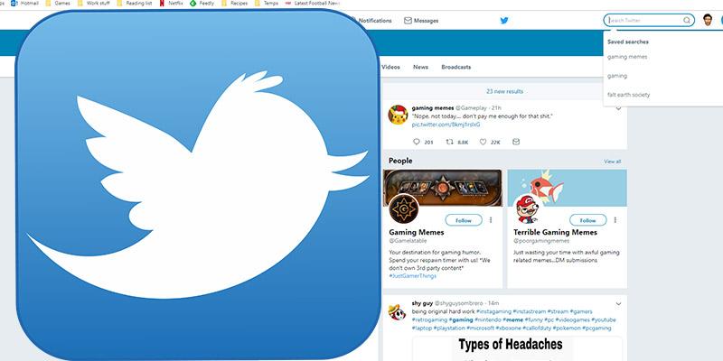 Как удалить сохраненные результаты поиска в Twitter