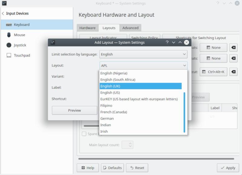 Plasma Set Keyboard Layout