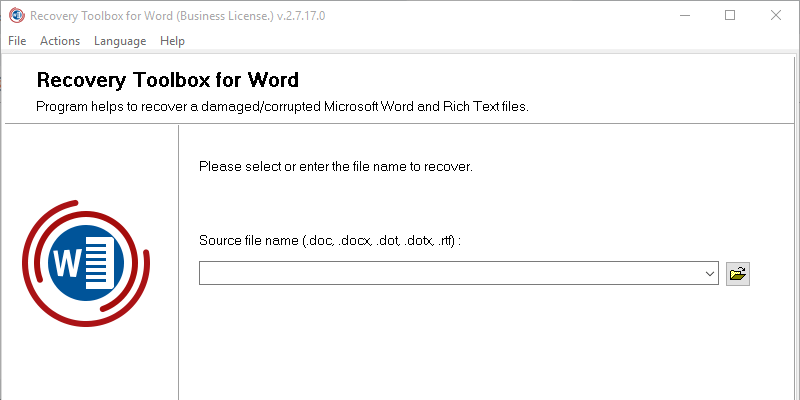 Recovery Toolbox for Word: An Easy Way to Repair Corrupt