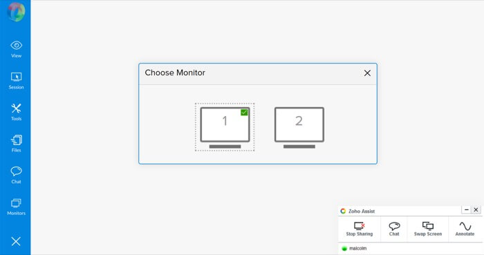zoho-assist-review-multi-monitor-navigation