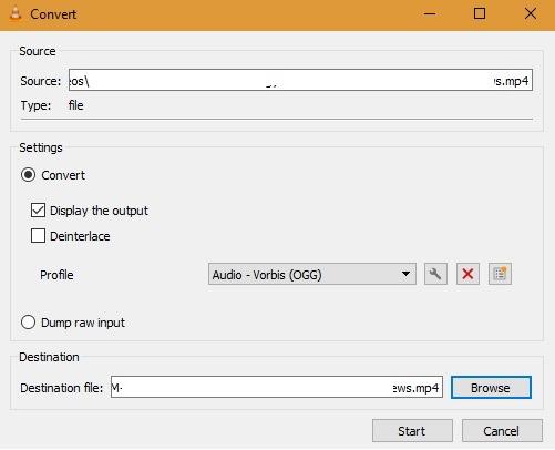 Convert Save in VLC FIle saving