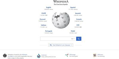 Featured Wikipedia Homepage