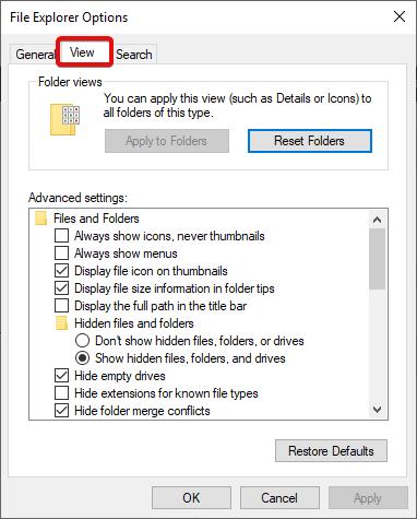 Folder Process View