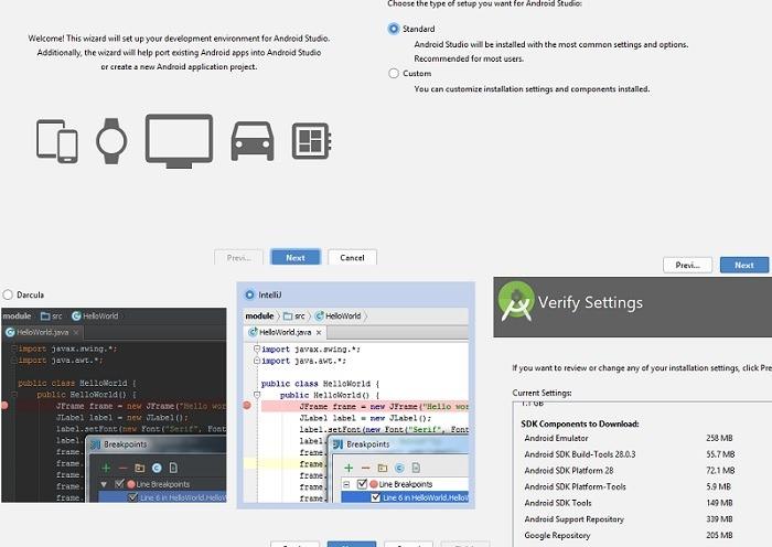 Android Studio Installation screenshots