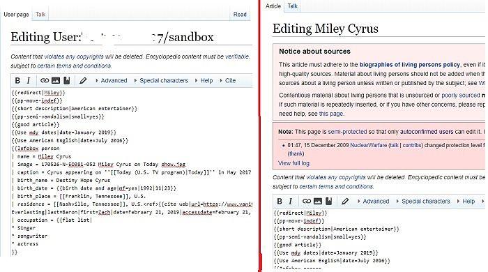 Learn Wiki editing skills on Sandbox
