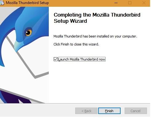 Mozilla Thunderbird Launch
