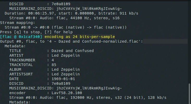 FFMPEG Loudnorm function