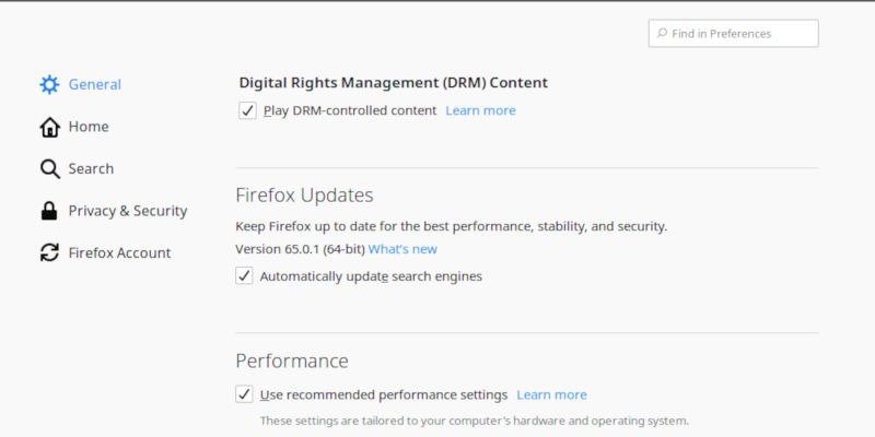 Enable DRM on Firefox