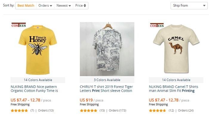 Aliexpress Printed Tshirts