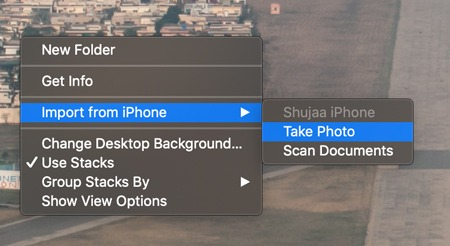 Continuity Camera Desktop