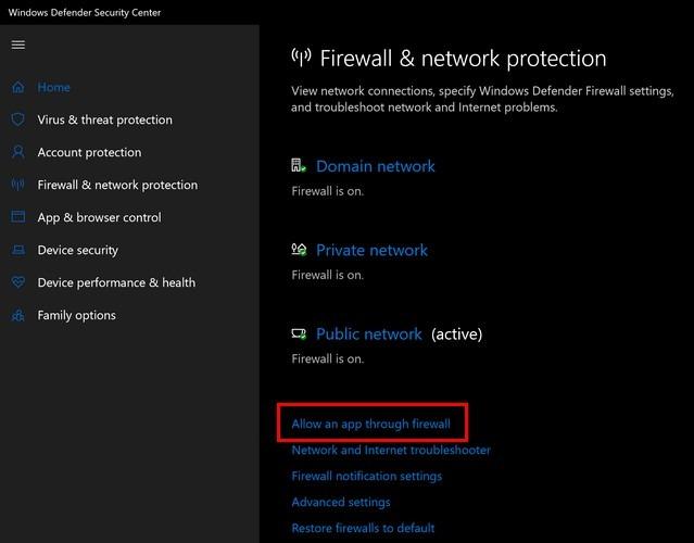 Error Firewall