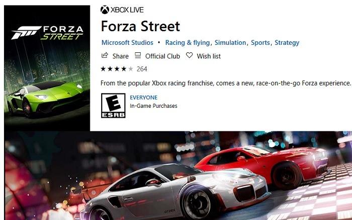 Forza Street Microsoft Store