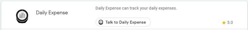 Google Assistant Productivity Daily Expense
