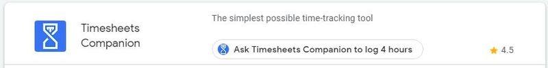 Google Assistant Productivity Timesheets Companion