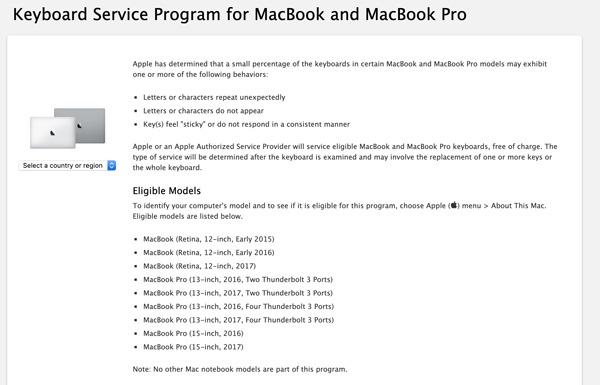 Mac Keyboard Issues Repair