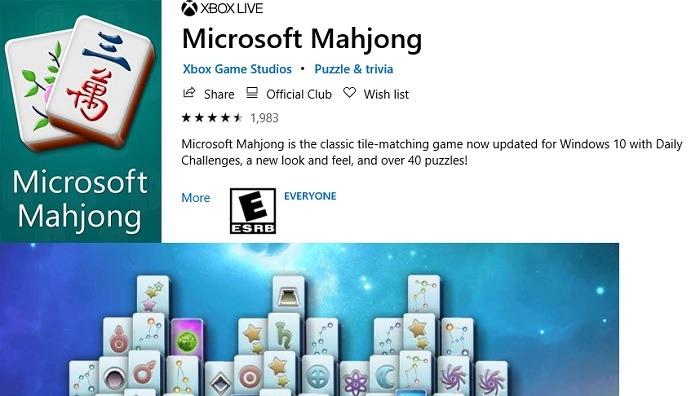 Microsoft Mahjong Microsoft Store