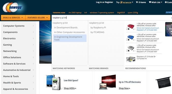 Newgg Raspberry Pi Kit Search