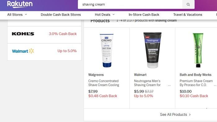 Rakuten Different Stores Similar Products