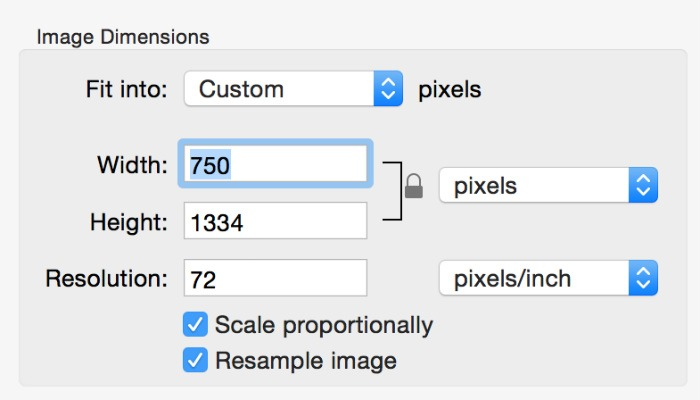 Resize Image Macpreview