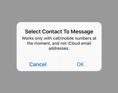 Schedule Text Message Select Contact